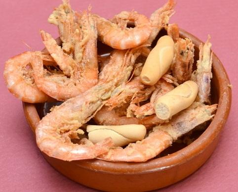 Gamba blanca de Huelva frita